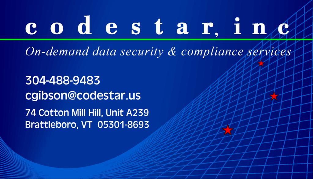 codestar, brattleboro Vermont