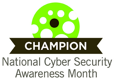 Cybersecurity awareness month logo NSCAM